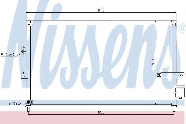 Конденсер кондиціонера Nissens 940197