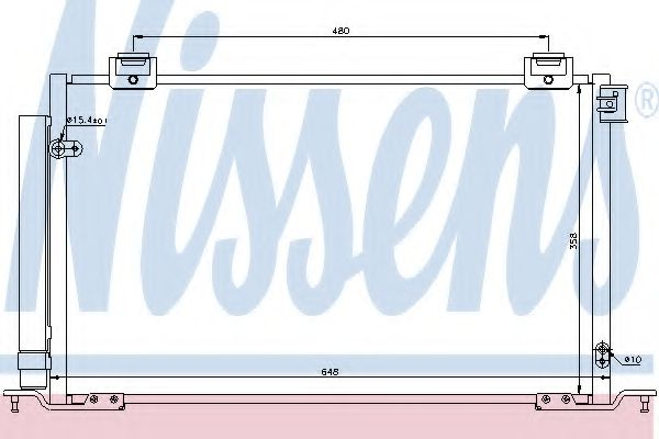 Конденсер кондиціонера Nissens 940200