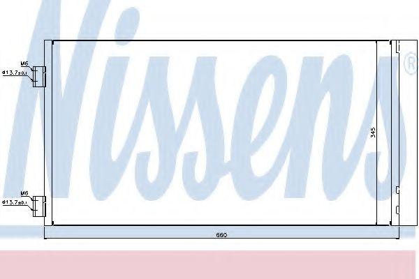 Конденсер кондиціонера Nissens 940204