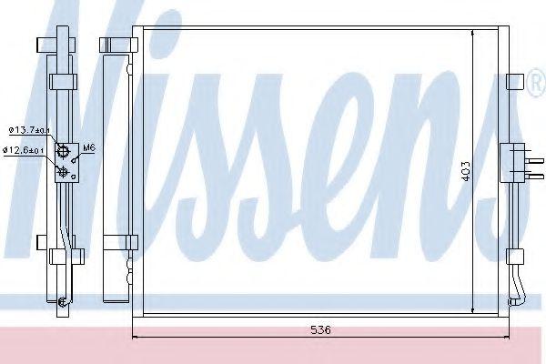 Конденсер кондиціонера Nissens 940217