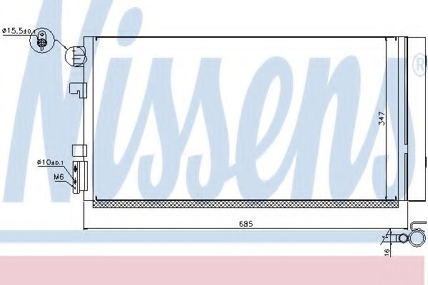 Конденсатор, кондиционер NISSENS арт. 940259