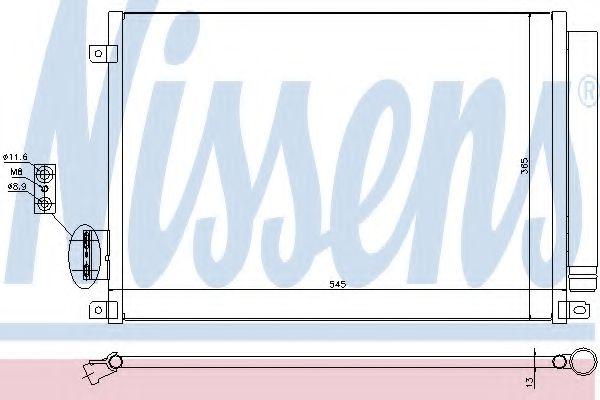 Конденсатор, кондиционер NISSENS арт. 940280