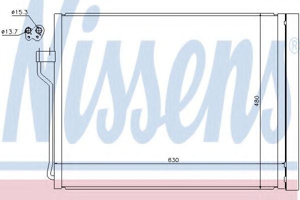 Конденсер кондиціонера Nissens 940288