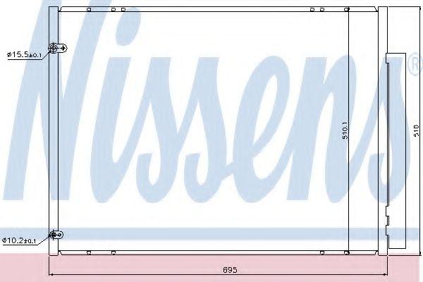 Конденсер кондиціонера Nissens 940298