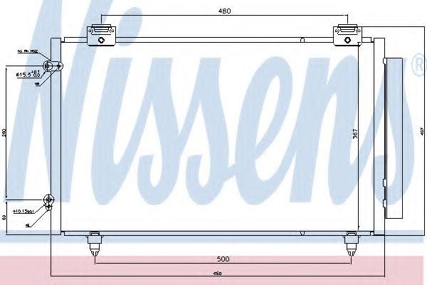 Конденсатор, кондиционер Nissens - 940299