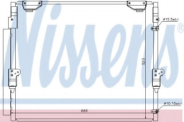 Конденсатор, кондиционер Nissens - 940304