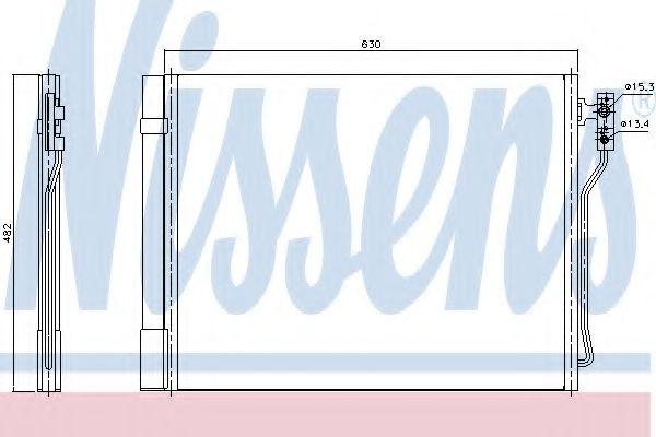 Конденсер кондиціонера Nissens 940370