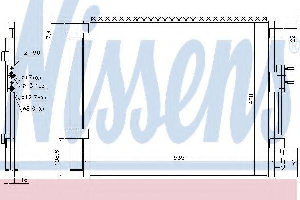 Конденсер кондиціонера Nissens 940391