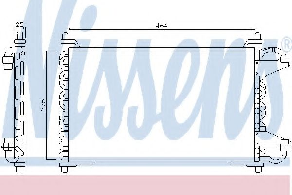 Конденсатор, кондиционер NISSENS арт. 94098