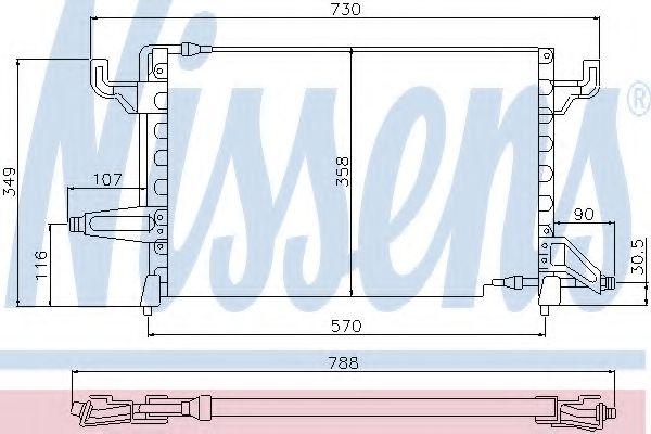 Конденсатор, кондиционер NISSENS арт. 94101
