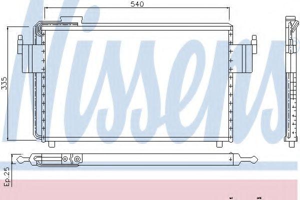 Конденсатор, кондиционер NISSENS арт. 94102