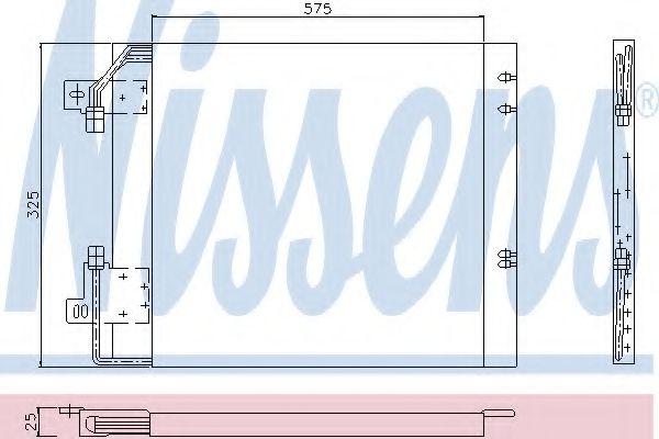 Конденсатор, кондиционер NISSENS арт. 94114