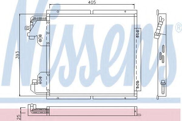 Конденсатор, кондиционер NISSENS арт. 94132
