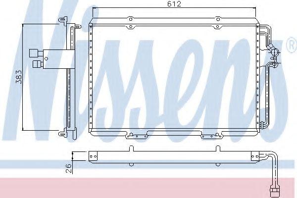 Конденсатор, кондиционер NISSENS арт. 94133
