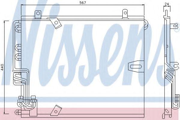 Конденсер кондиціонера Nissens 94158