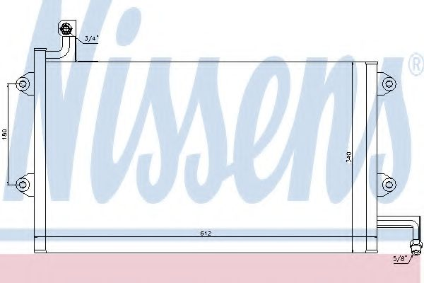 Конденсатор, кондиционер NISSENS арт. 94164