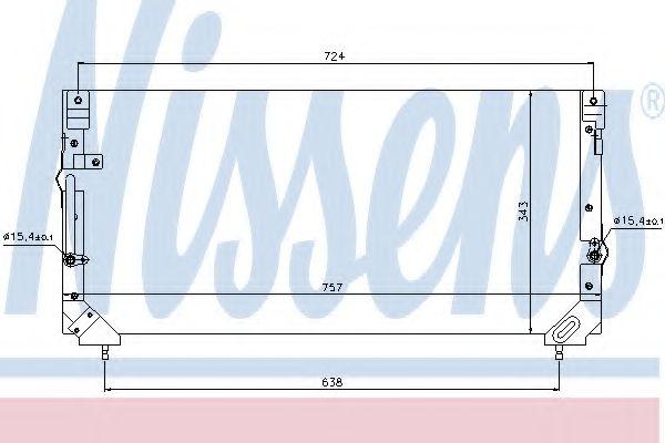 Конденсатор, кондиционер NISSENS арт. 94184