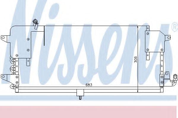 Конденсатор, кондиционер NISSENS арт. 94174