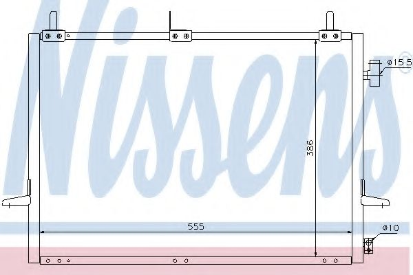 Конденсер кондиціонера Nissens 94271