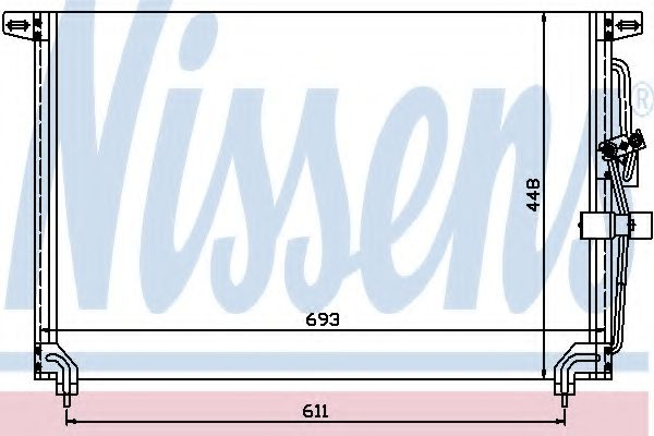 Конденсатор, кондиционер NISSENS арт. 94232