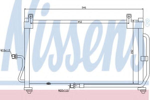Конденсер кондиціонера Nissens 94411