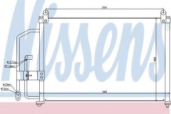 Конденсер кондиціонера Nissens 94412
