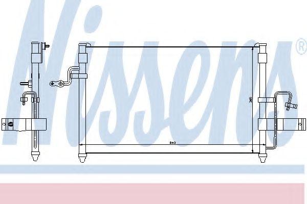 Конденсер кондиціонера Nissens 94414