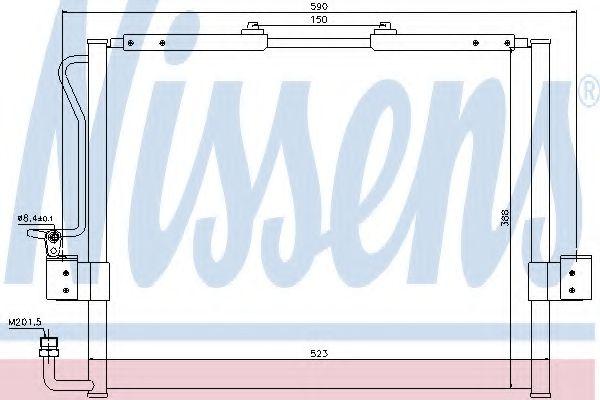 Конденсер кондиціонера Nissens 94417