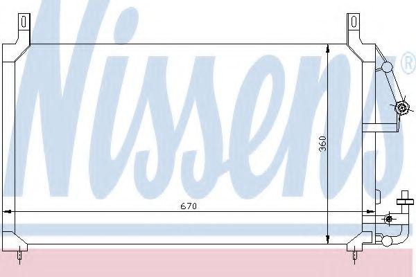 Конденсер кондиціонера Nissens 94424