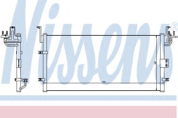 Конденсатор, кондиционер NISSENS арт. 94447