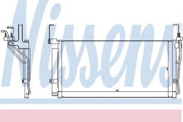 Конденсер кондиціонера Nissens 94451