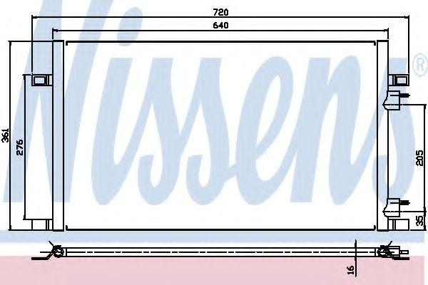 Конденсер кондиціонера Nissens 94386
