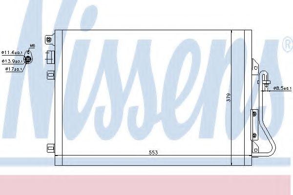Конденсатор, кондиционер NISSENS арт. 94439
