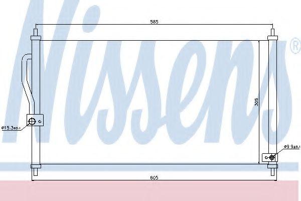 Конденсер кондиціонера Nissens 94458