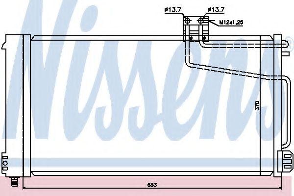 Конденсатор, кондиционер Nissens - 94544