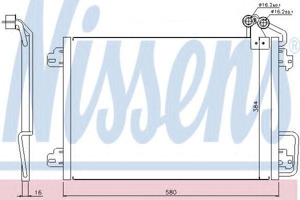 Конденсер кондиціонера Nissens 94572