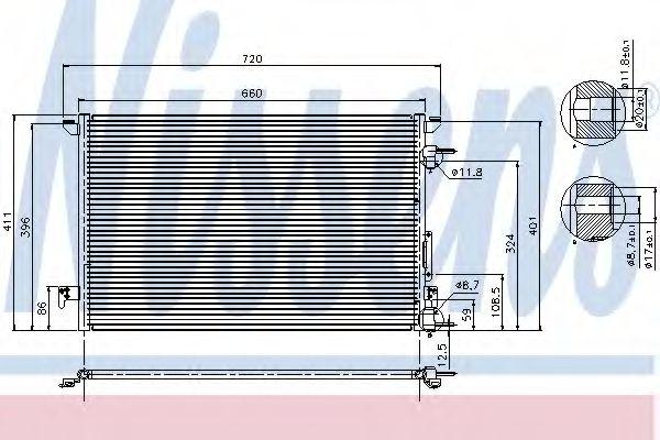 Конденсер кондиціонера Nissens 94597