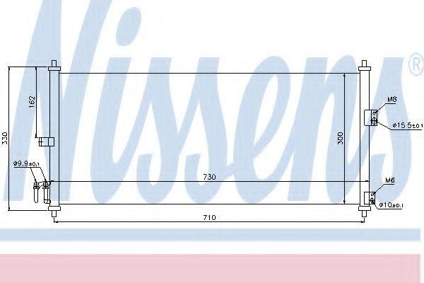 Конденсер кондиціонера Nissens 94616