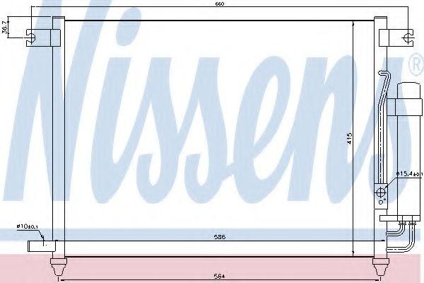 Конденсер кондиціонера Nissens 94641