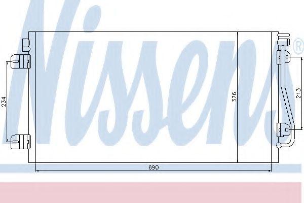 Конденсер кондиціонера Nissens 94660