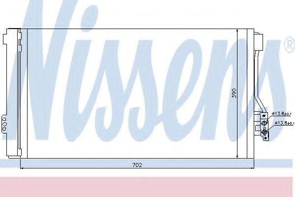 Конденсатор, кондиционер Nissens - 94674