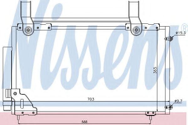 Конденсер кондиціонера Nissens 94735