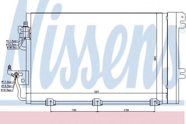 Конденсер кондиціонера Nissens 94767