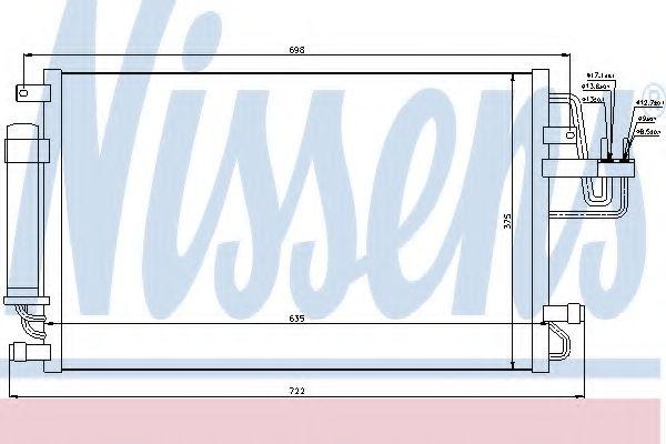 Конденсер кондиціонера Nissens 94801
