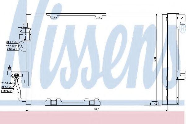 Конденсер кондиціонера Nissens 94807