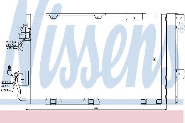 Конденсер кондиціонера Nissens 94809