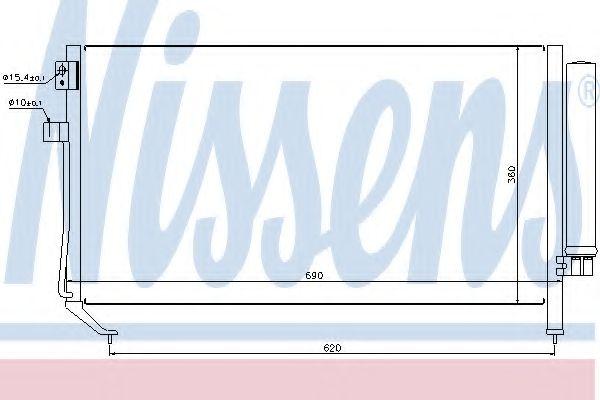 Конденсатор, кондиционер NISSENS арт. 94848