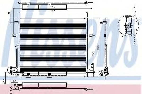 Конденсатор, кондиционер Nissens - 94897