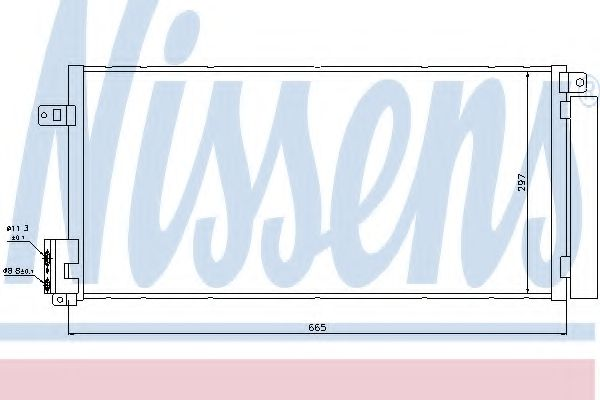 Конденсатор, кондиционер NISSENS арт. 94899