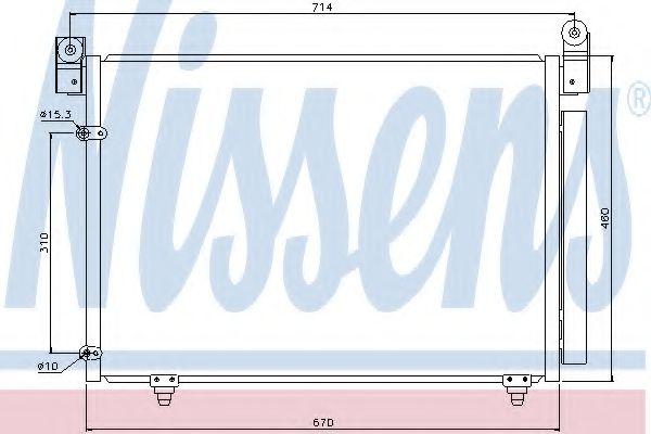 Конденсер кондиціонера Nissens 94933